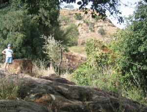 Erster Vorsprung des Berges in Rhumsiki