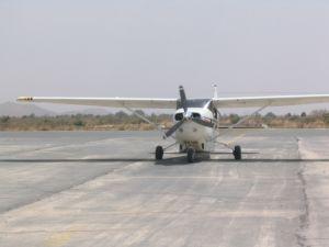 Das Flugzeug ist jetzt startbereit.