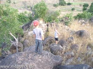Klettertour auf die Felsen