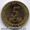 5 F CFA - Zahl