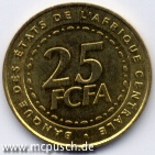 25 F CFA - Zahl
