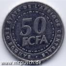 50 F CFA - Zahl