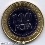 100 F CFA - Zahl