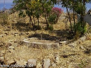 Blick auf das deutsche Soldatengrab