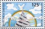 Kameruner Briefmarke 2000: Friede Arbeit Vaterland - 125 F CFA